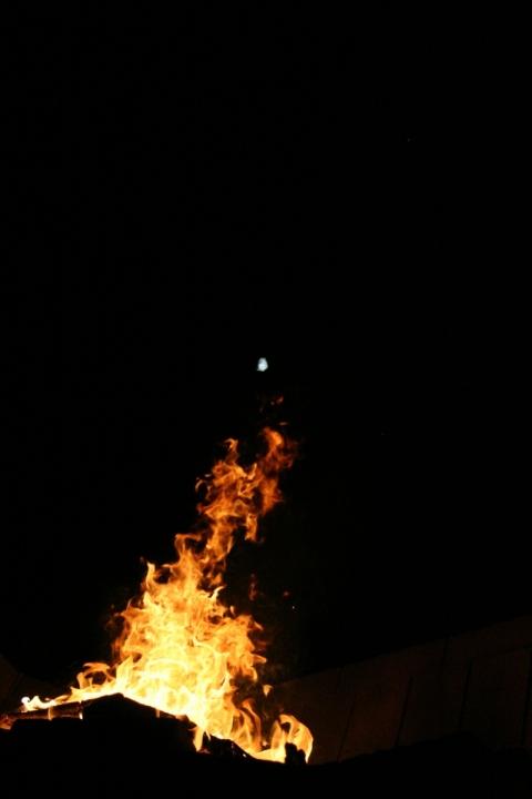 Flamme et lune